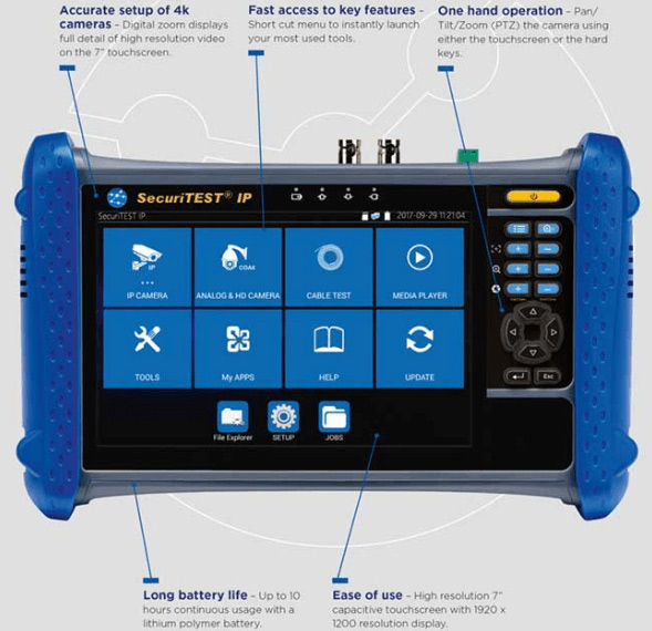 CCTV Tester Securitest IP para comprobar instalaciones de cámaras